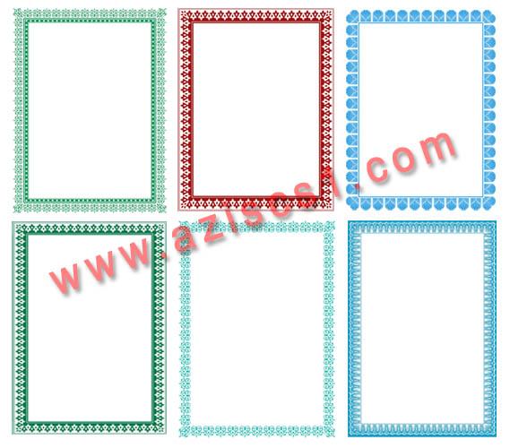 border piagam sertifikat dan ijazah untuk corel blog grafis border piagam sertifikat dan ijazah